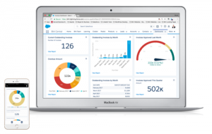 See live finance data in Salesforce dashboards.